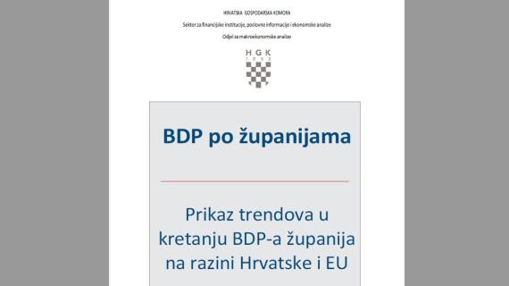 BDP po županijama - Prikaz trendova u kretanju BDP-a županija na razini Hrvatske i EU