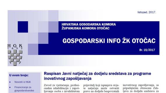 Gospodarski info ŽK Otočac 15/2017