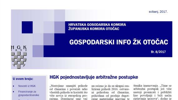Gospodarski info ŽK Otočac 8/2017