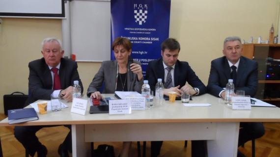 Potpredsjednica Vlade predstavila sisačko-moslavačkim gospodarstvenicima Akcijski plan za rasterećenje gospodarstva