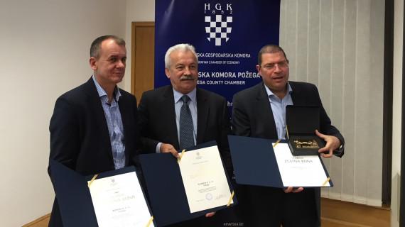 Zlatnu kunu za najuspješnije tvrtke Požeško-slavonske županije u 2016. godini dobili Plamen, Lipik Glas i Konto