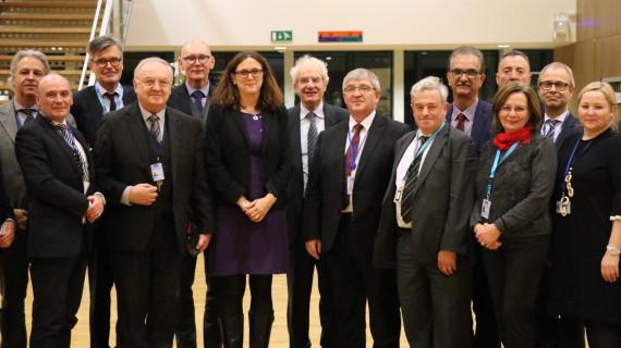 Sastanak skupine poslodavaca EGSO-a s povjerenicom EK za trgovinu Cecilijom Malstrom