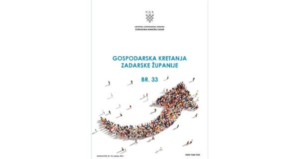 Gospodarska kretanja Zadarske županije br. 33 (srpanj 2017.)