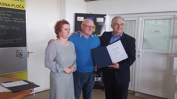 ŽK Požega dodijelila priznanje za uspješno poslovanje tvrtki Grbić d. o. o.