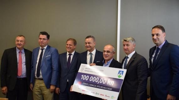 Poduzetnici Koprivničko-križevačke županije donirali 100 tisuća kuna Općoj bolnici Zadar