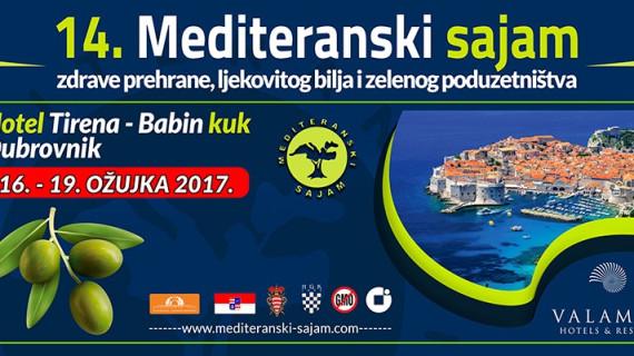 ŽK Dubrovnik poziva na 14. Mediteranski sajam zdrave prehrane, ljekovitog bilja i zelenog poduzetništva