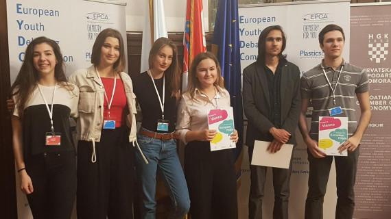 Izabrani najbolji hrvatski mladi govornici u debati o plastici
