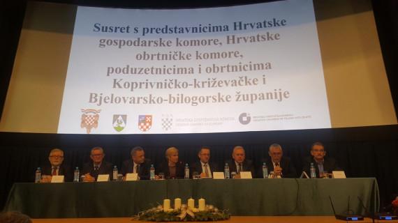 Susret predsjednice Kolinde Grabar-Kitarović s predsjednikom ŽK Bjelovar i gospodarstvenicima