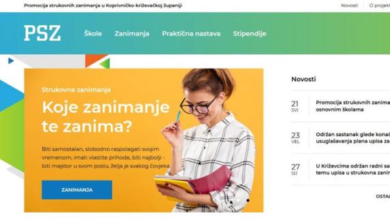 Predstavljen web-portal projekta promocije strukovnih zanimanja