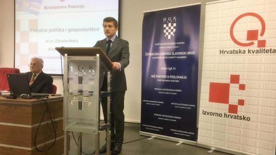 Predavanje ministra Zdravka Marića Fiskalna politika i gospodarstvo