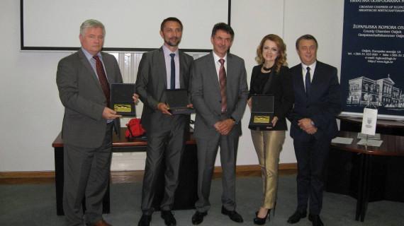 Plakete Zlatna kuna dodijeljene najuspješnijim tvrtkama Osječko-baranjske županije